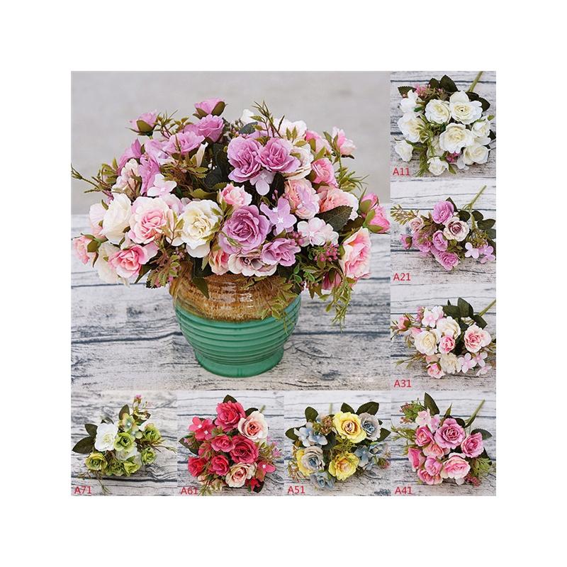 Bouquet Artificial Flower Home Wedding Decor Diy