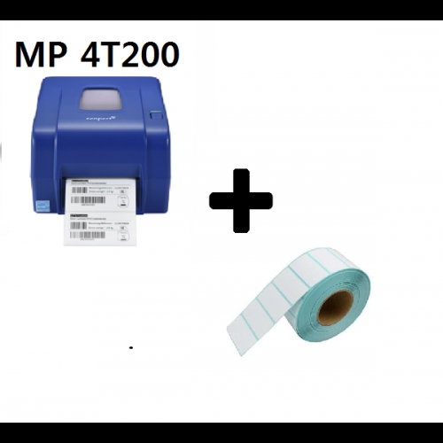 MP 4T200 Barcode Printer+Label Sticker 30x10mm(1500pcs)