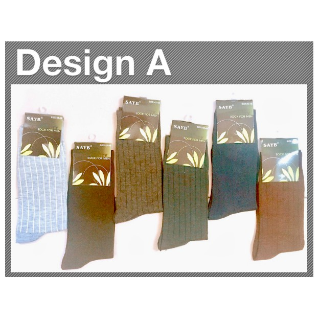 Men's Business Breathable Thermal Cotton Classic Blended Casual Sport Socks Line Design