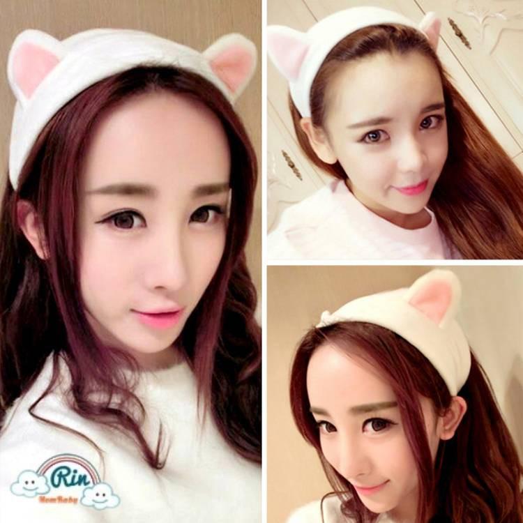 13f7c96e793 Cute Wash Face Makeup Bath Shower Bowknot Hair Band Headband Hairlace  Accessory