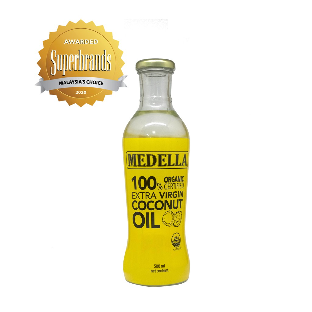 MEDELLA Organic Extra Virgin Coconut Oil (500 ml)