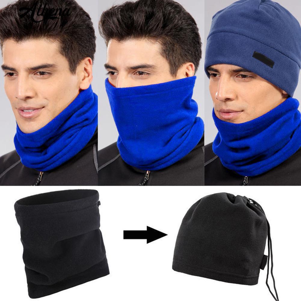 Blue Galaxy Microfiber Neck Warmer Balaclavas Soft Fleece Headwear Face Scarf Mask for Winter