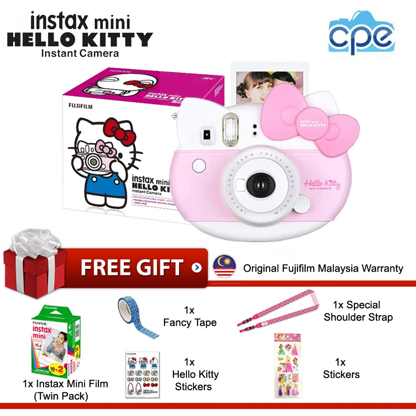 678704034 (Special Edition Package) Fujifilm Instax Mini 8 Hello Kitty Instant Camera  Pink | Shopee Malaysia