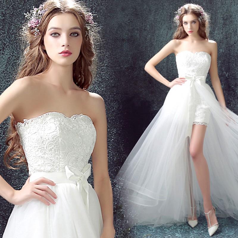 Bridal Gown Dress Mini Dress Mini Lace Brocade Wedding Dress Bridesmaid Dress