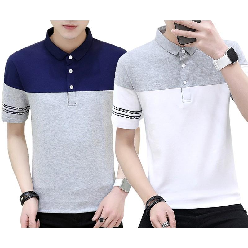 5fe12dab0 Floral polo shirts mens 95% cotton Lapel collar Fashion flower Polo shirt  men | Shopee Malaysia