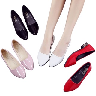 4ColorsWomen PU Leather High Heel Shoe Office Lady Black Work Round Toe Shoes