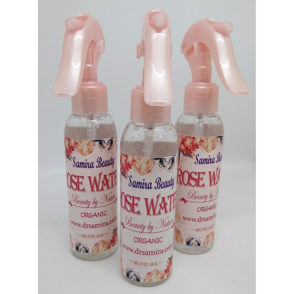 ORGANIC ROSE WATER AIR MAWAR SAMIRA BEAUTY 140ML