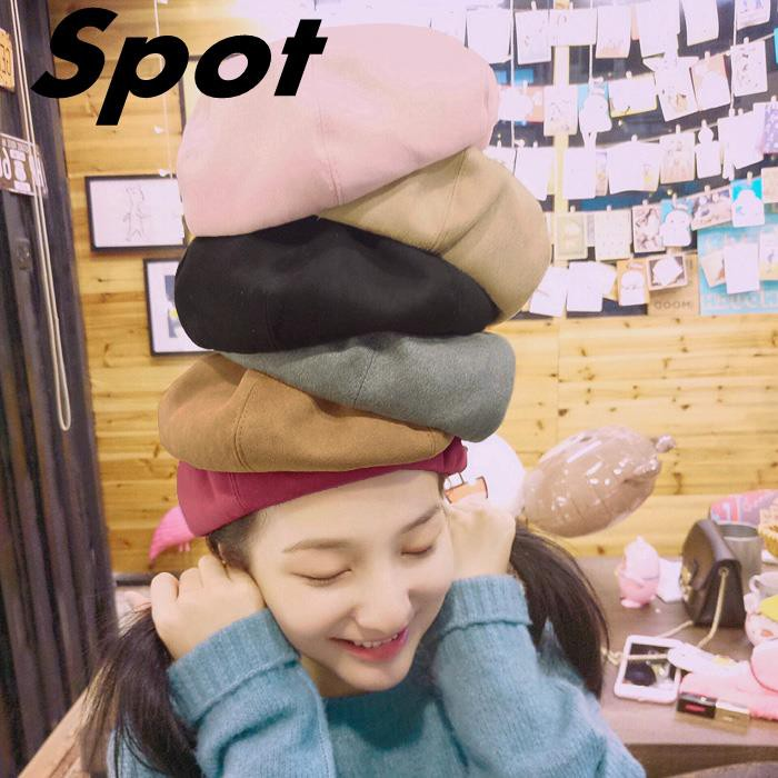5ae2b4b30bfea0 ProductImage. ProductImage. [spot]Korean version of autumn and winter cute  casual wild hat ...