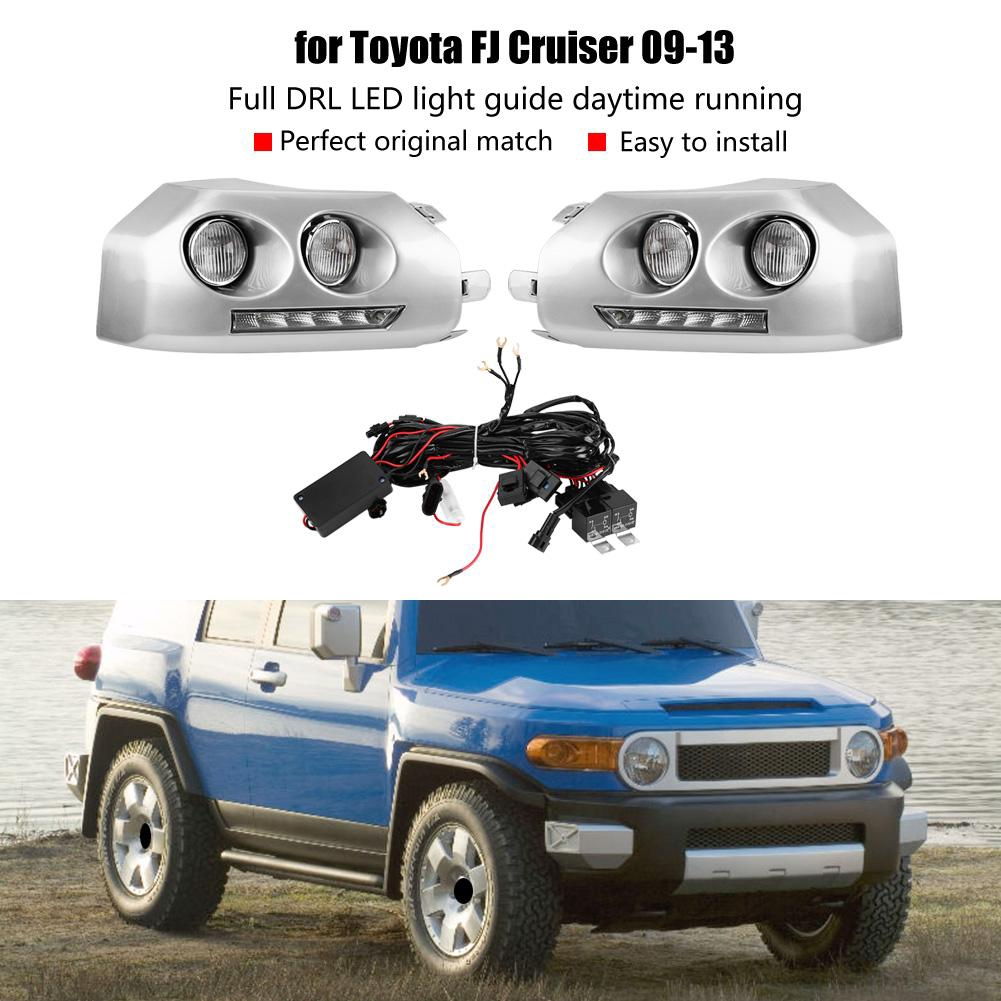 Car Lights 1pair Car Daytime Running Light Turn Signal 2-color Drl Led Fog Lamp For Toyota Ch-r 16-17 Car Styling Led Day Light Drl Lamp Car Light Assembly
