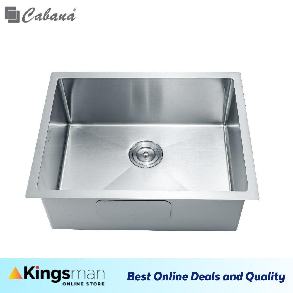 [Kingsman] Cabana Undermount Stainless Steel Home Living Kitchen Sink Single Bowl Ready Stock - CKS6302A