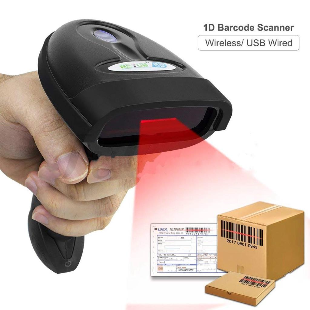 Wireless Barcode Scanner USB Wired/Wireless Barcode Reader