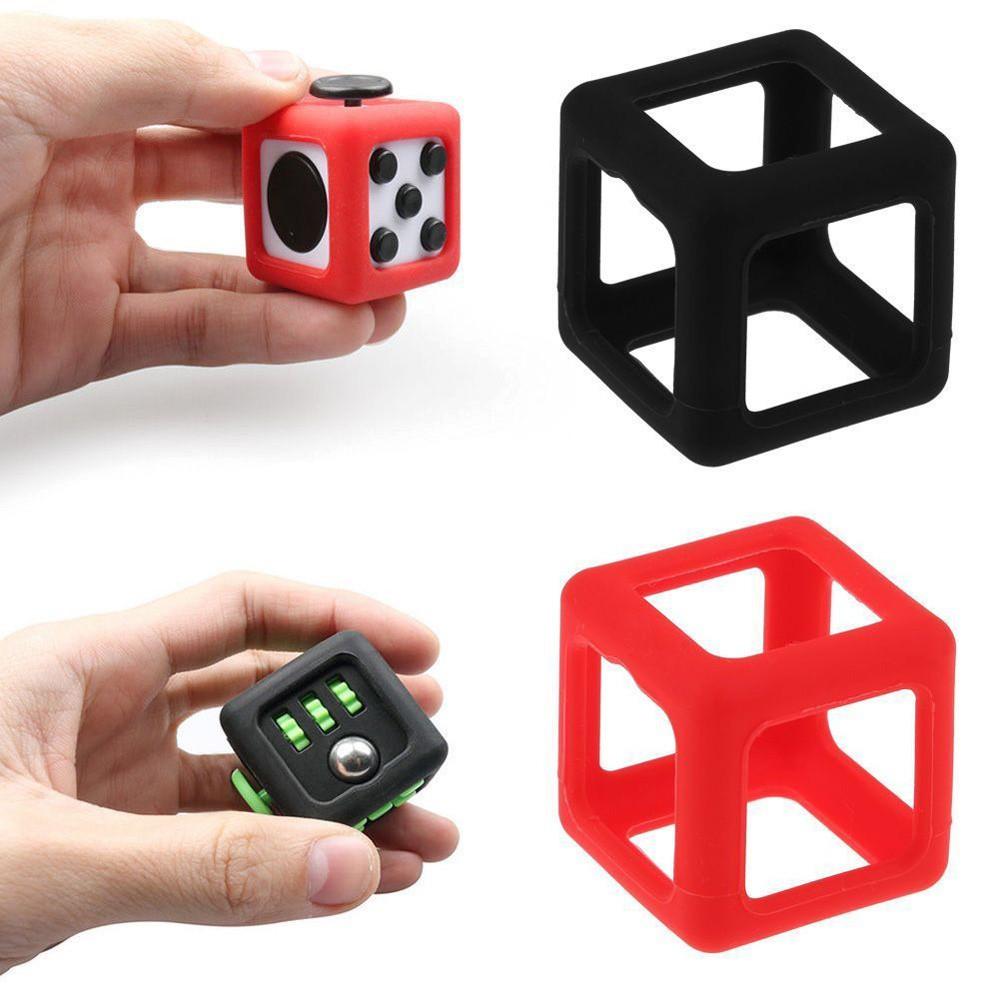 Fidget Cube Green Protective Cover Case Protector Silicon