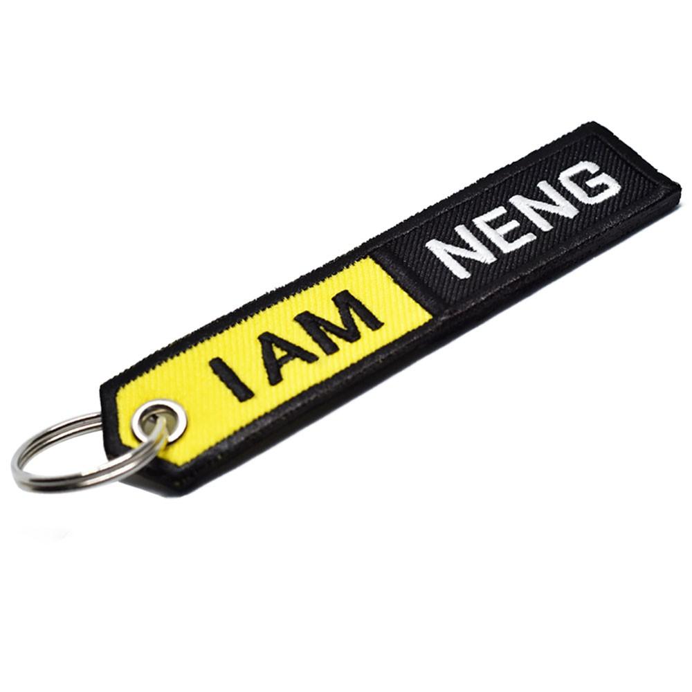 พวงกุญแจปักชื่อสไตล์ I AM NIKON
