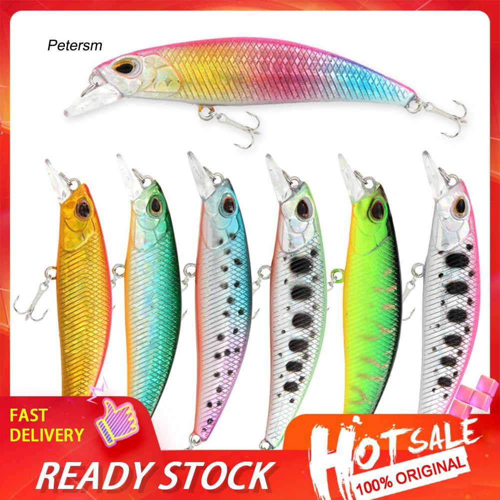 PST_6cm 5g Fishing Artificial Lifelike Lure Minnow Wobbler Fish Swim Bait Tackle
