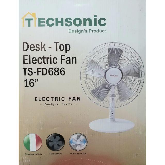 Techsonic 5 blade Table Fan