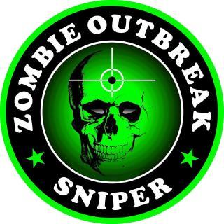 19 5x11 1cm Cartoon ZOMBIE Sniper Bio Hazard Retro-reflective Decal
