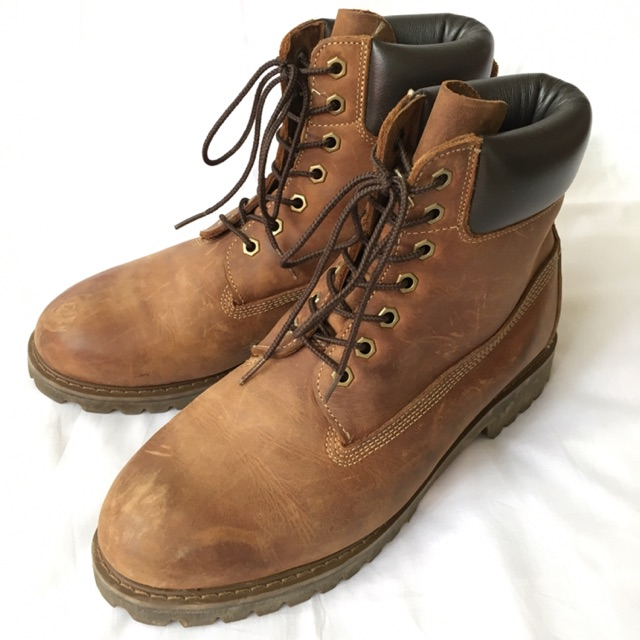 Rebaño Prohibición Descarte  Preloved Hawkins Boots Grain Leather Like Timberland | Shopee Malaysia