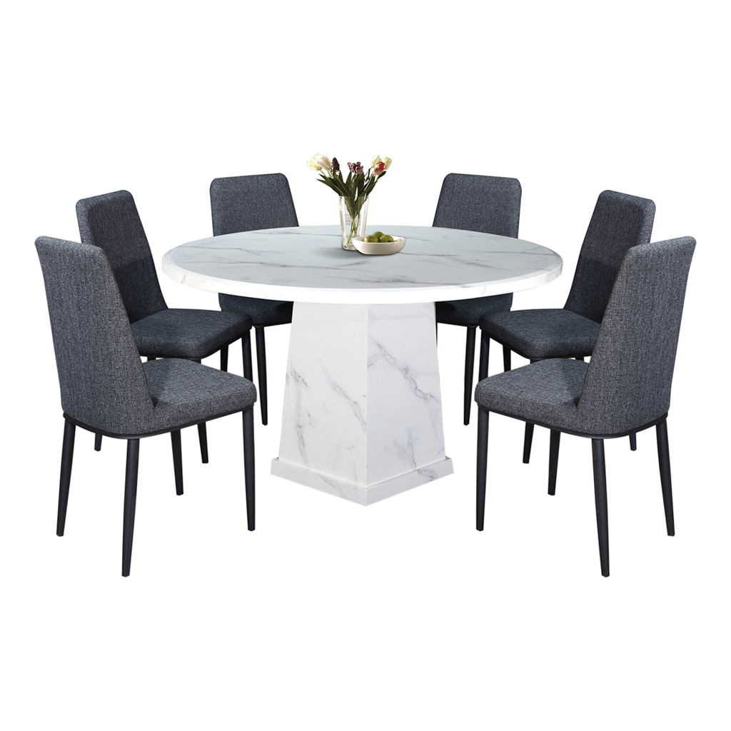 Luxury Design Round Marble Dining Table, Round Marble Table Dining Set