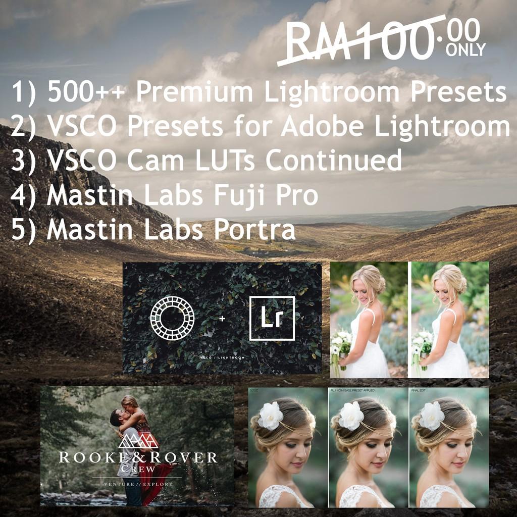 COMBO PHOTOGRAPHY ACTION, PRESET & TEMPLATE + PREMIUM PRESET LIGHTROOM