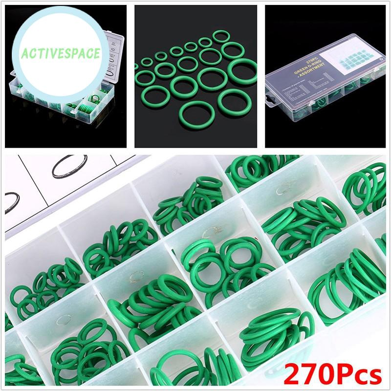 270X Green Rubber Car HNBR A//C System Air Conditioning O Ring Seals Kit Tools