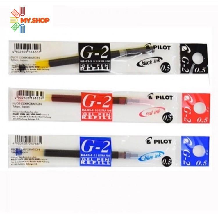 Pilot G2 Gel Pen Refill 0.5/0.7mm - Black/Blue/Red (Refill)