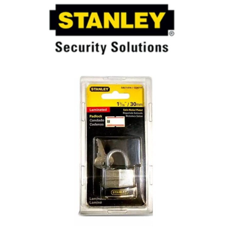 STANLEY S827-014 '30MM LAMINATED PADLOCK SECURITY SECURITY LOCK