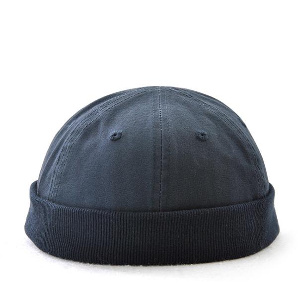 37da58d49a Men Solid Adjustable Warm Skullcap Sailor Cap Rolled Cuff Retro Brimless Hat
