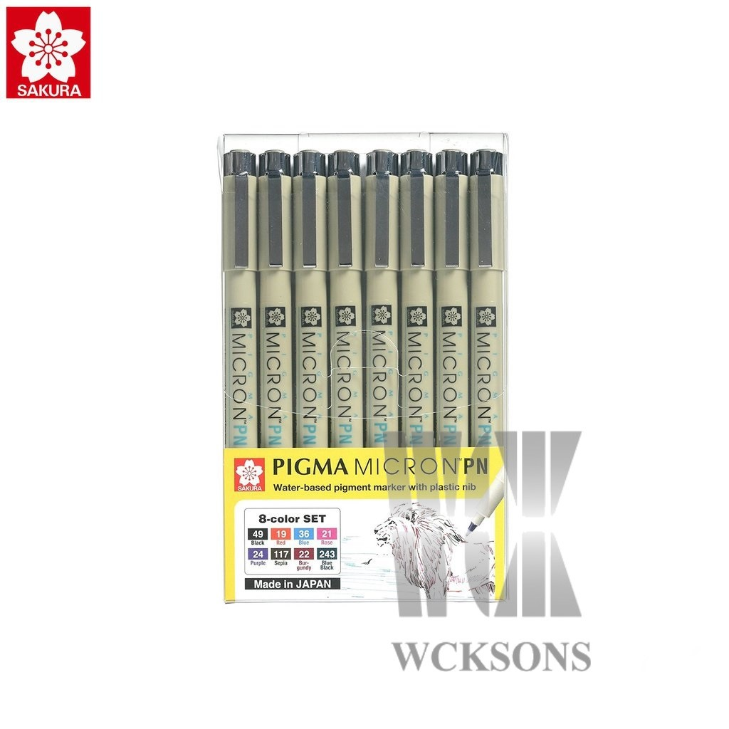 Japan 10 Colors Sakura 0.8mm Souffle 3D Mat Color Gel Ink Pens w// Pen Case
