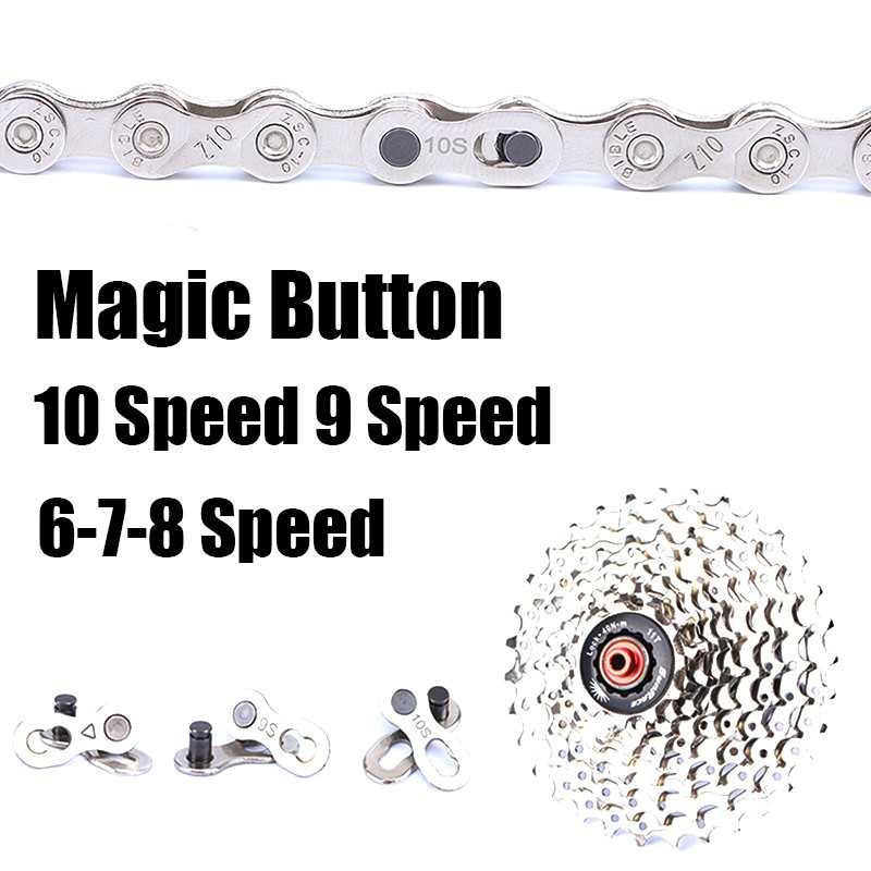 10Pcs Mountain Bike Bicycle Chain Link Connector Magic Button Quick 8//9//10Speed