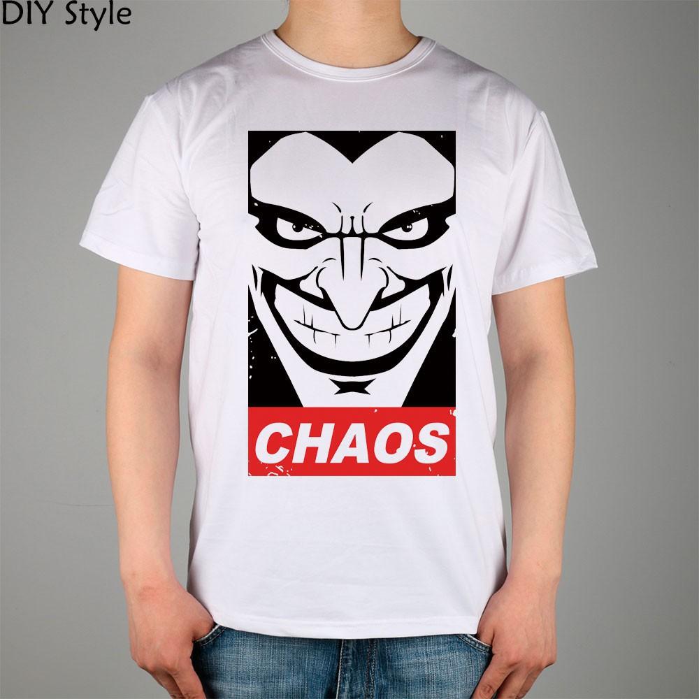 f93db0d29754f T shirt Tee YEM CHAOS JOKER short sleeve T-shirt Top Lycra Cotton Men T  shirt Ne