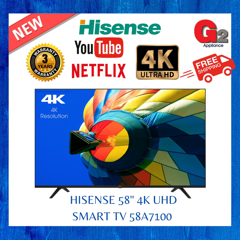 Hisense New 2020 58 4k Uhd Smart Tv 58a7100 Fast And Safe Delivery Hisense Warranty Malaysia