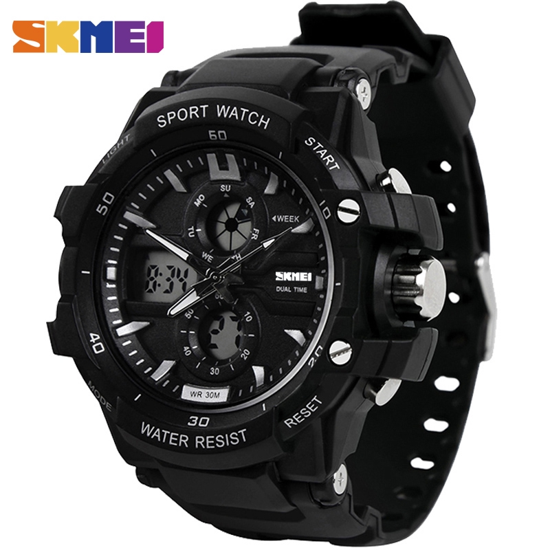 9b04e4afe88 SKMEI 1355 Men s Dual Display 3 Time Countdown Waterproof Wristwatches  (50M)