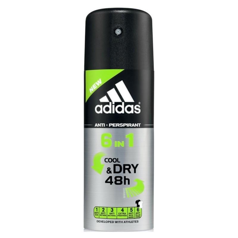 extremadamente único bonita y colorida niño Adidas 6 in 1 Anti-Perspirant Deodorant Men 150 ml   Shopee Malaysia