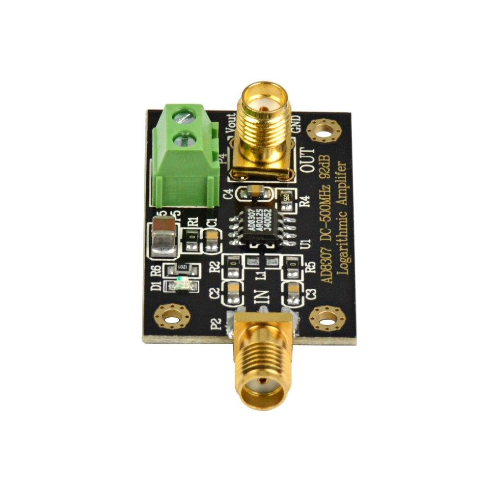 AIYIMA AD8307 RF Power Detector Module DC-500MHz Logarithmic Amplifier  Transmitter Antenna Power