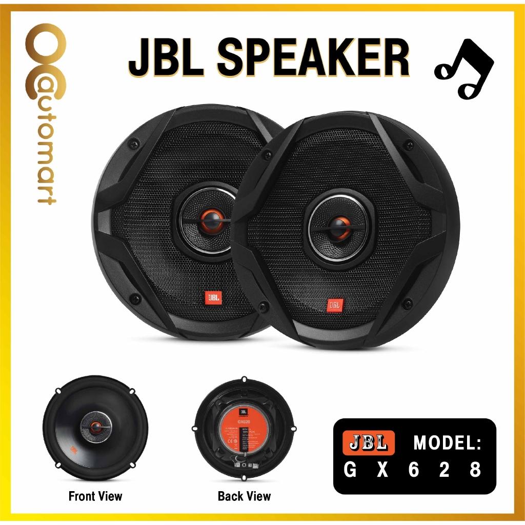 """JBL GX Series GX628 6.5"""" 2-Way Coaxial Car Loudspeakers with Polypropylene Cones (Pair) - Black - 60Wrms, 180W peak"""