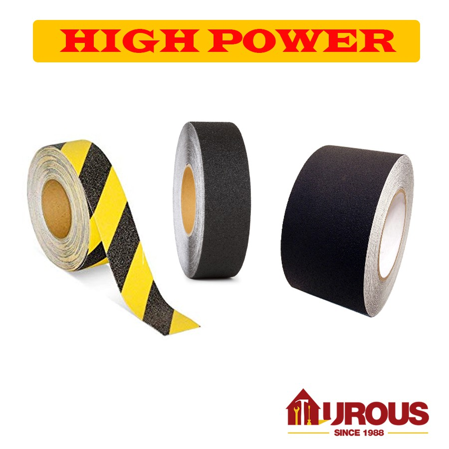100mm x 1m Strip, Red Anti Slip Tape ~ High Grip Non-Slip Safety Strip Grip Tape ~ Adhesive Backed Floor Steps Site Supplies Construction Safety