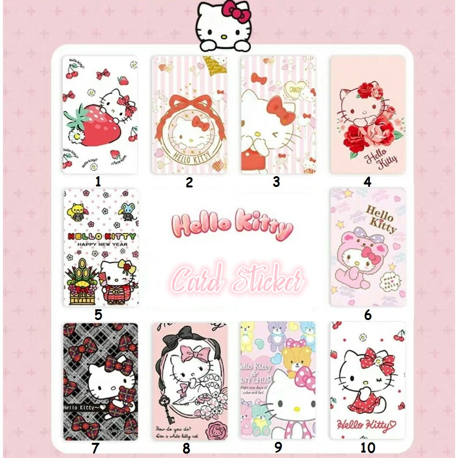 Hello Kitty Cute Card Sticker Touch N go Sticker