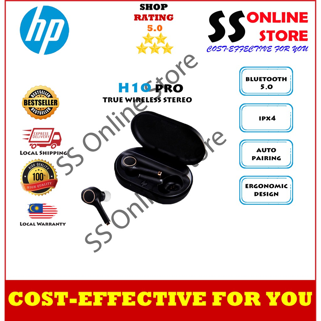 100%ORI HP H10Pro noise reduction true wireless bluetooth headset earbud in-ear Apple Android universal music