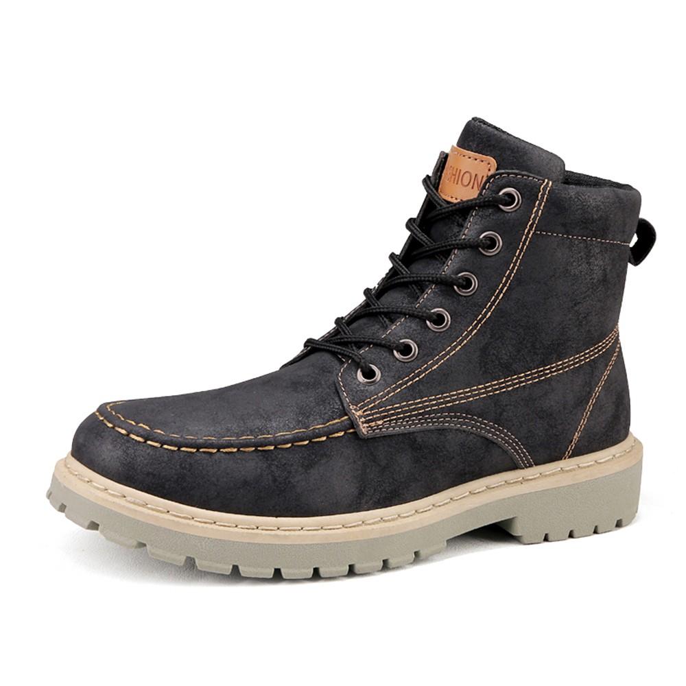 d06e1dc6c4f Leather Boots Fashion Men s Shoes Cowhide High Help Boots Fomal Shoes