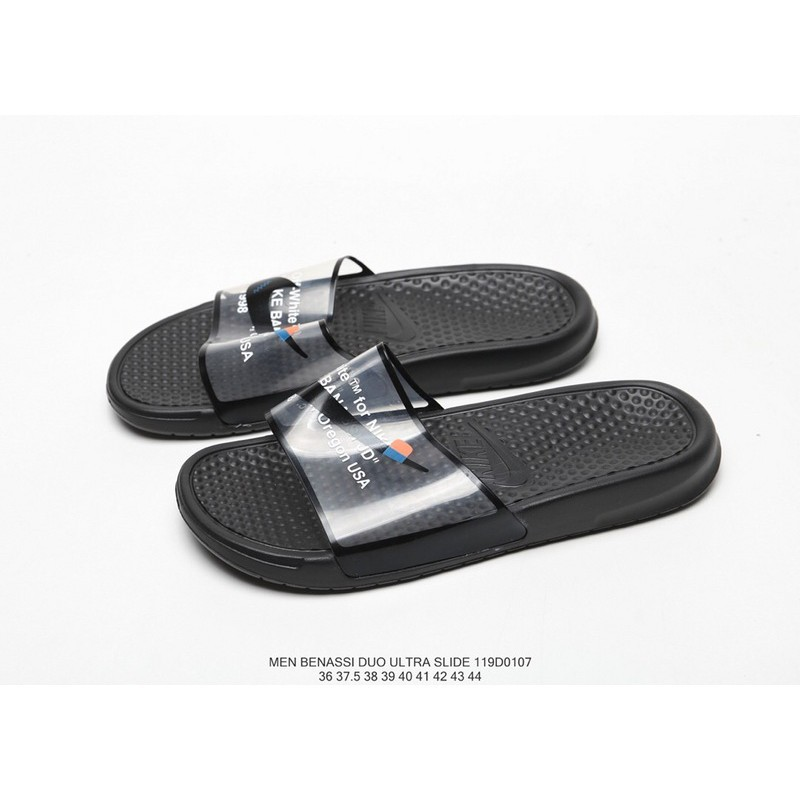 cubierta Expansión Padre fage  Linfa vip STAFF OFF WHITE x NIKE BENASSI Slippers GHOSTING Men's / Women's  Sandals Genuine   Shopee Malaysia