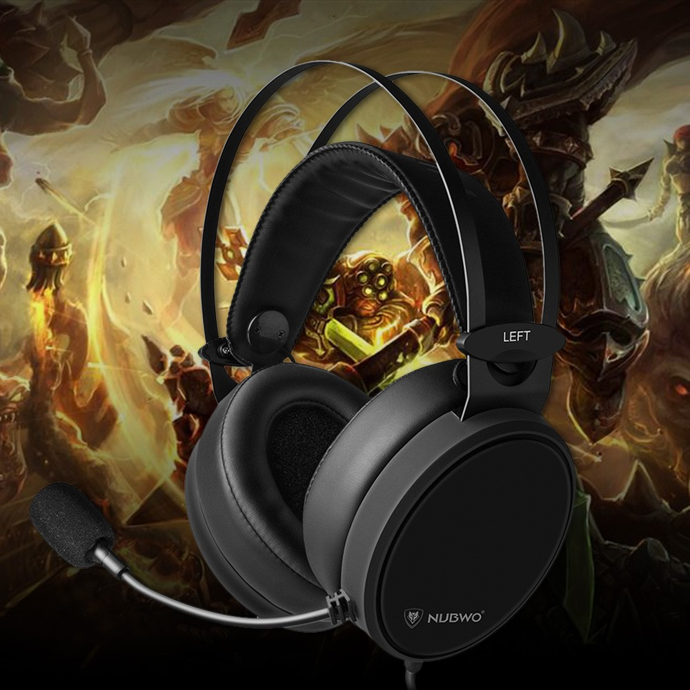 NUBWO N7 3 5mm Gaming Headset Deep Bass Headphones On Ear Earphone With  Microph