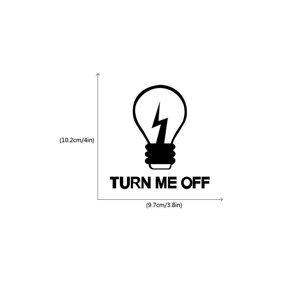 KG-282 Turn Me Off Light Switch Sticker Creative Cartoon