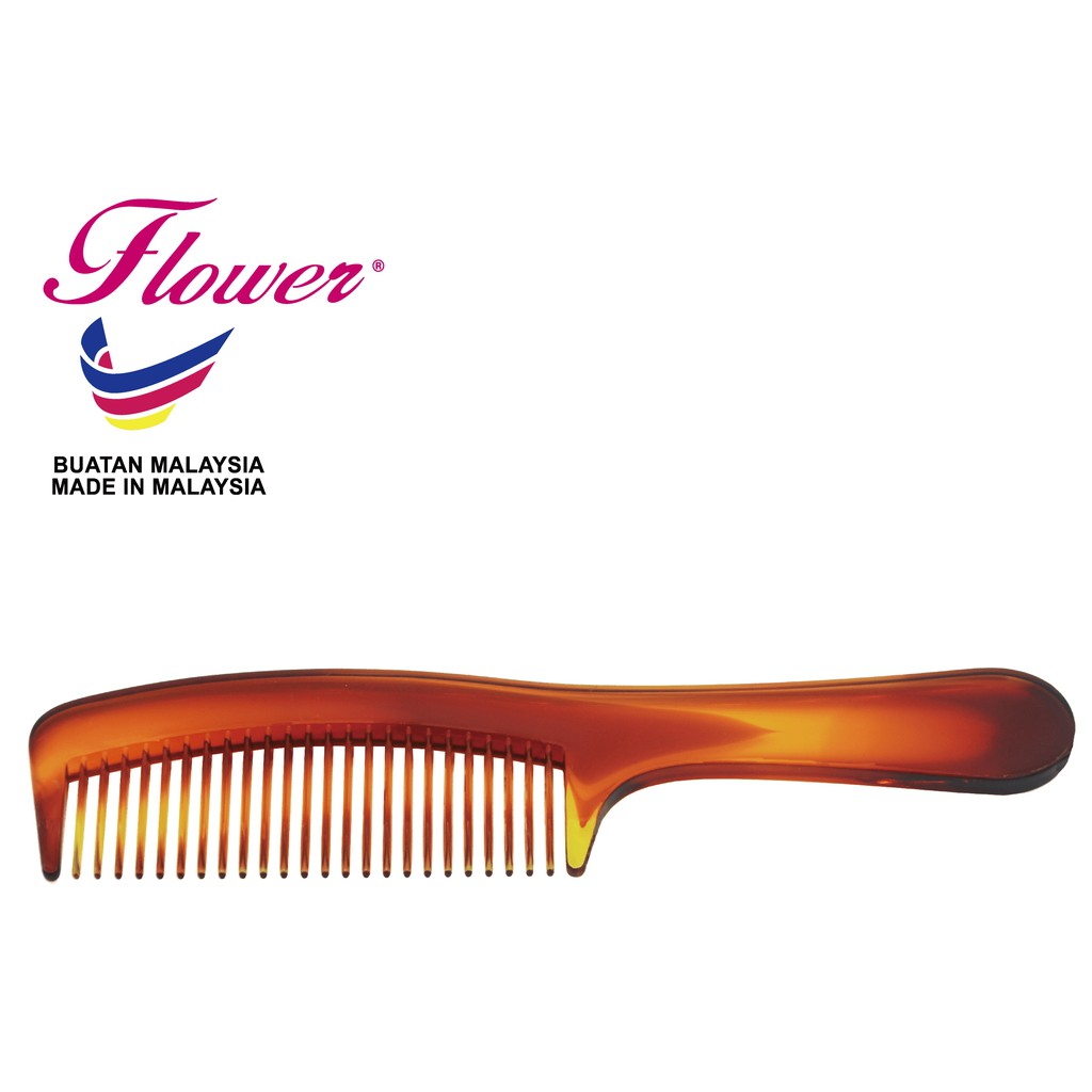 Flower Brush Tortoise Double Colour Comb Hair Styling Made in Malaysia (Sikat/Berus Rambut/Balung/Sisir)