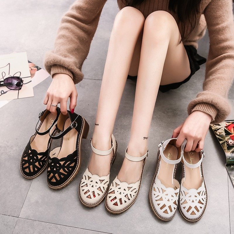 Promotion Sandals Women Shoes Summer Vintage Hollow Shoes