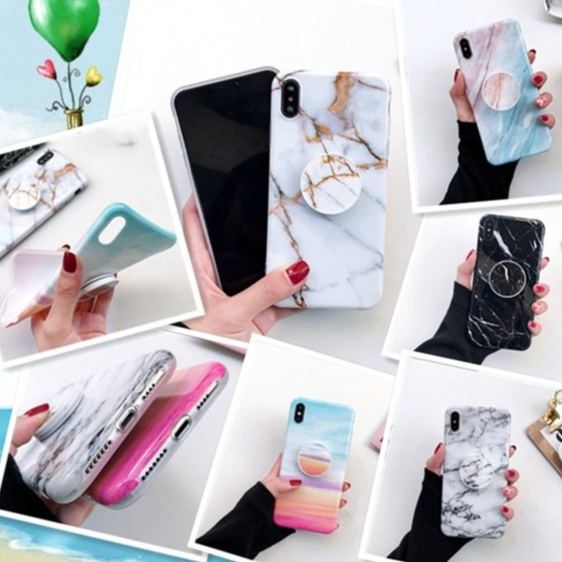 iPhone XS Max cover 6S 7 8 Plus XR TPU protective soft Marbled road phone  cases