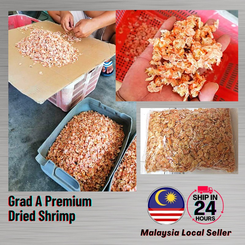 Ready Stock Local Grad A Premium Dried Shrimps Gred A Udang Kering Malaysia Kampung Nelayan Perak High Quality