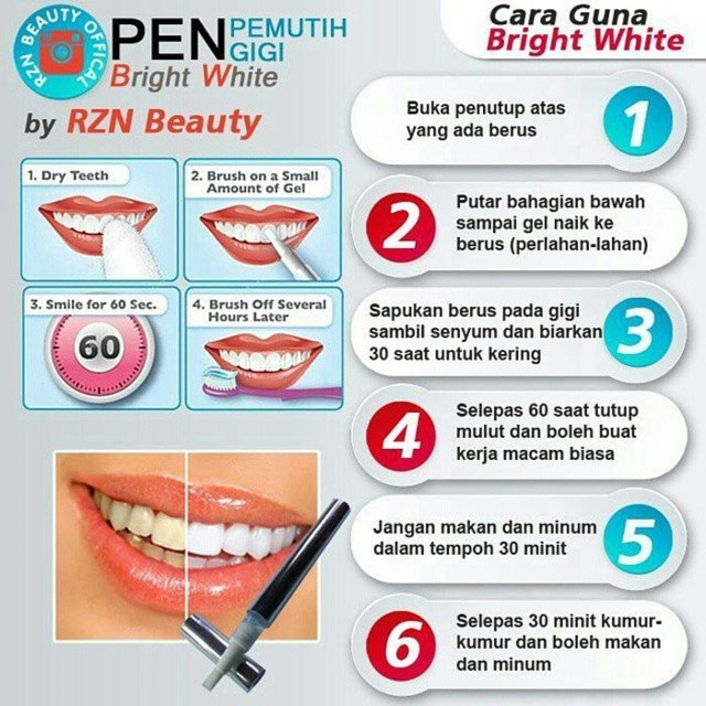 PEN PEMUTIH GIGI BRIGHT WHITE BY RZN BEAUTY  3f7c8c4f5d