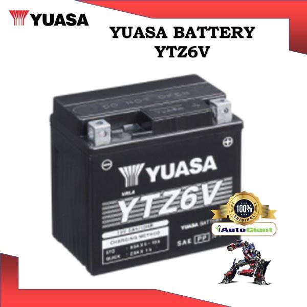 YUASA BATTERY YTZ6V HONDA CBR125/RS150/RS250