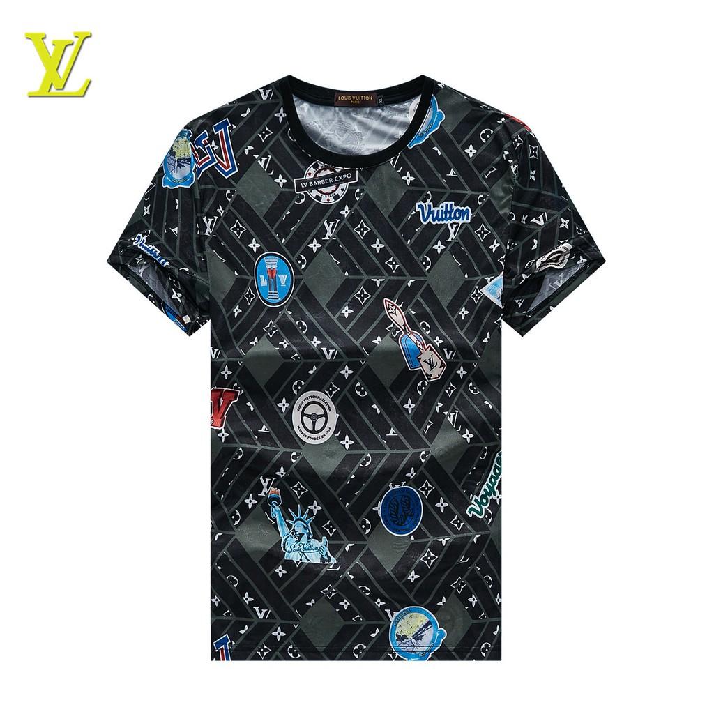 New Louis Vuitton LVT Shirt Casual Round Neck Men Summer Short Sleeve Polo  Shirt