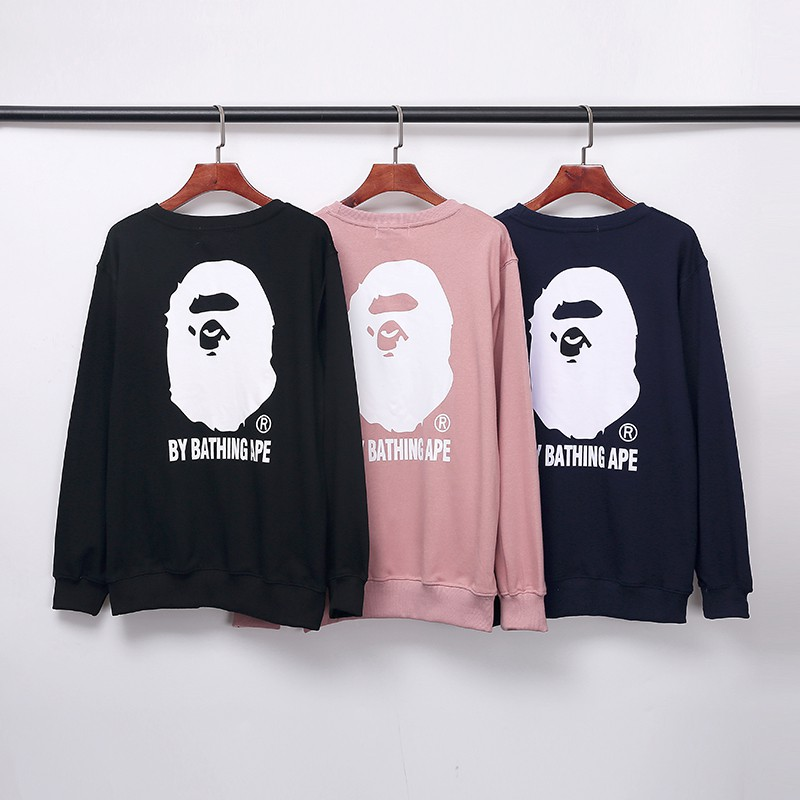 2020 FW new chest letter ape Hoodie embroidery back big ape head sweater
